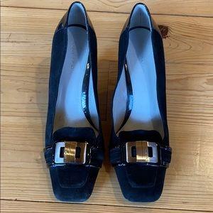 CK black heels